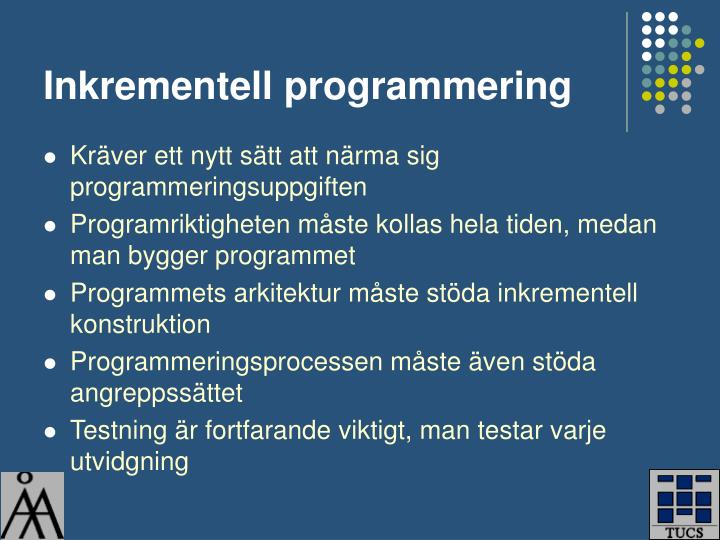 Inkrementell programmering