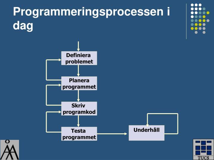 Programmeringsprocessen i dag