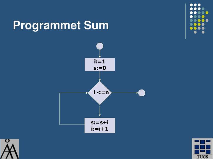 Programmet Sum