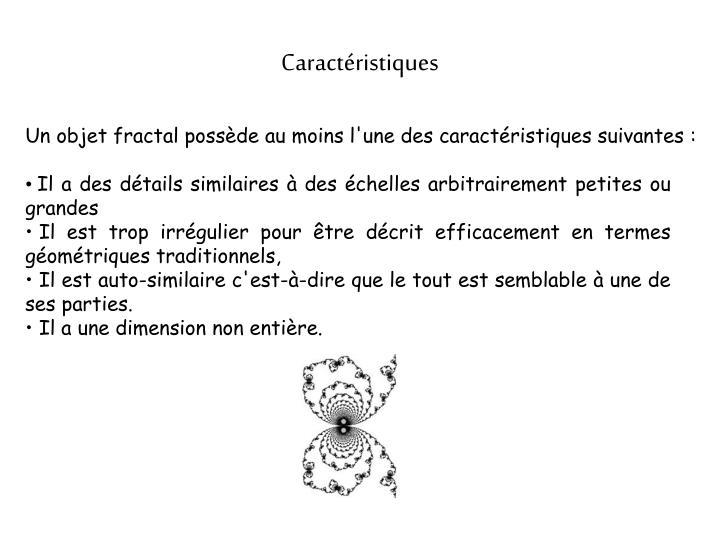 Caractristiques