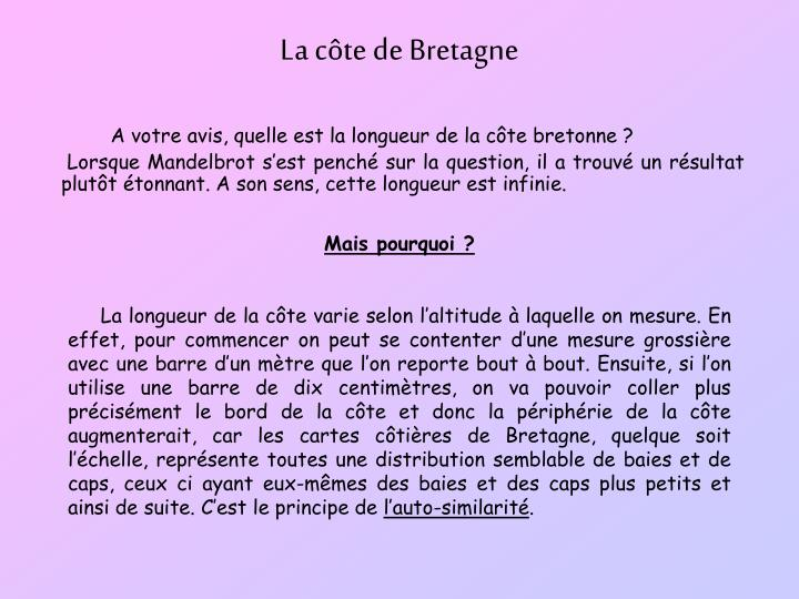 La cte de Bretagne
