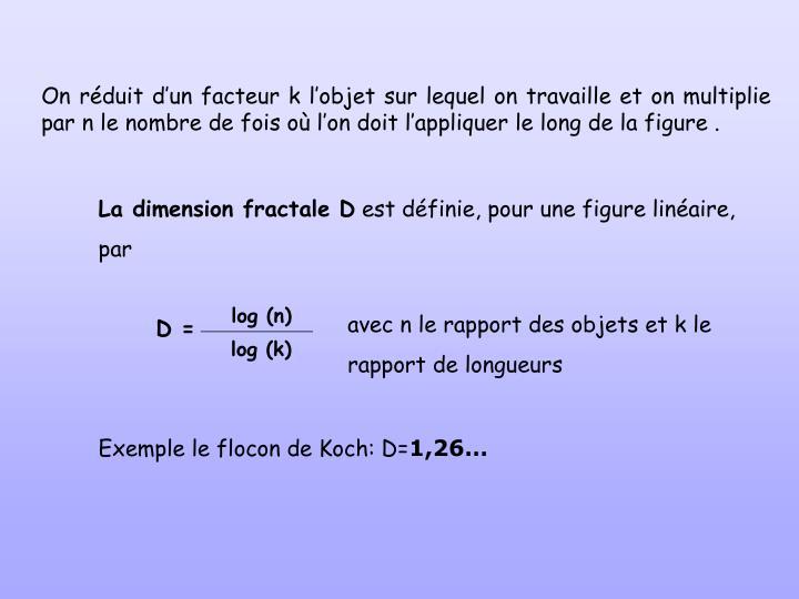 La dimension fractale D