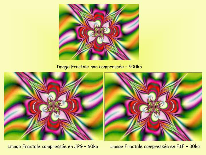 Image Fractale non compresse  500ko