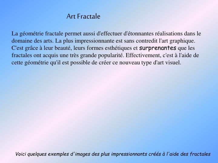 Art Fractale