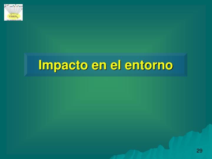 Impacto en el entorno