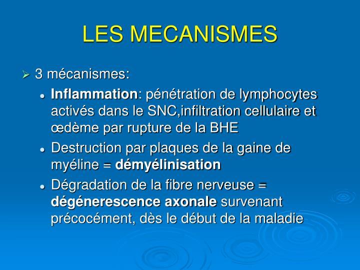 LES MECANISMES