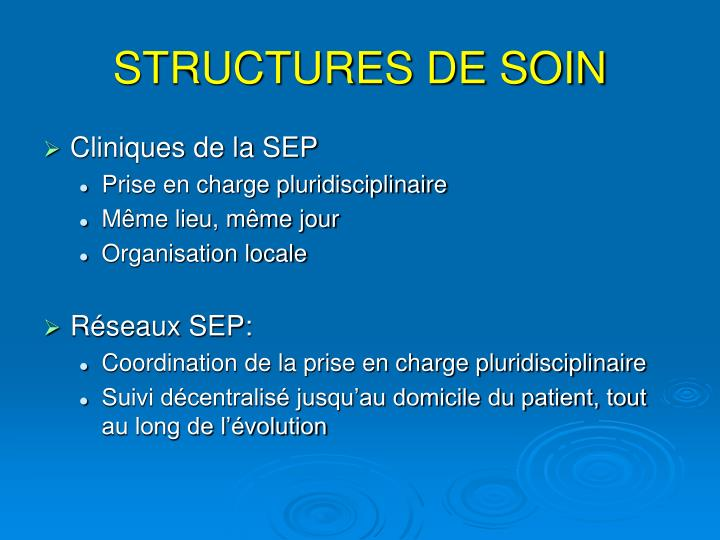 STRUCTURES DE SOIN