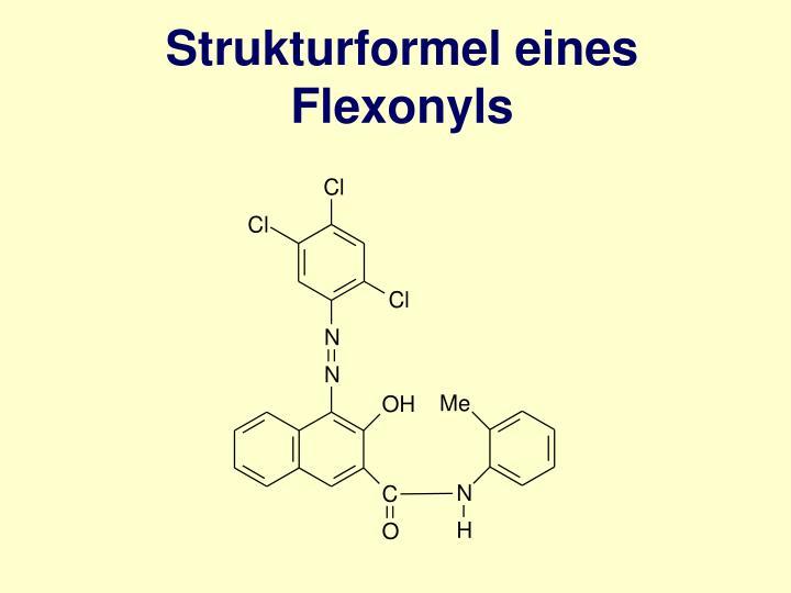 Strukturformel eines Flexonyls