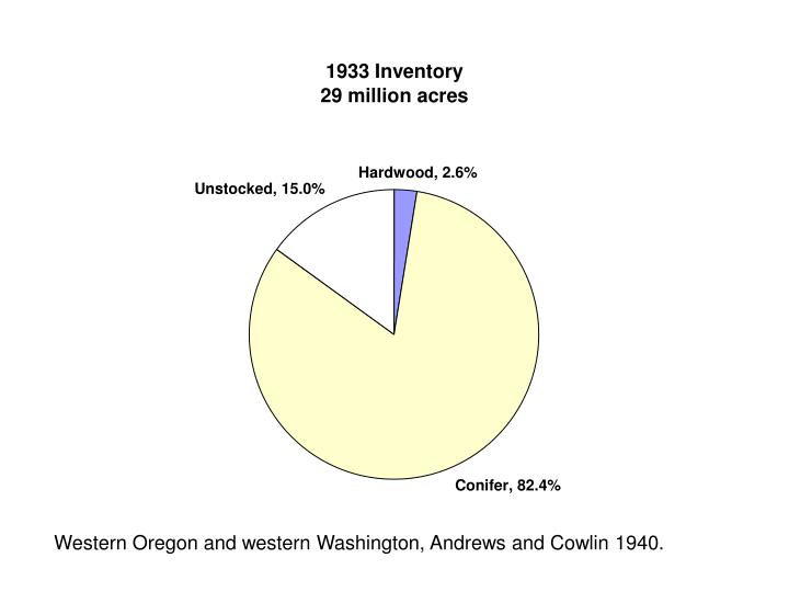 Western Oregon and western Washington, Andrews and Cowlin 1940.