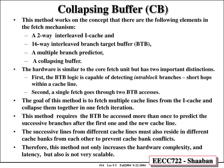 Collapsing Buffer (CB)