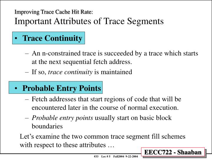 Improving Trace Cache Hit Rate: