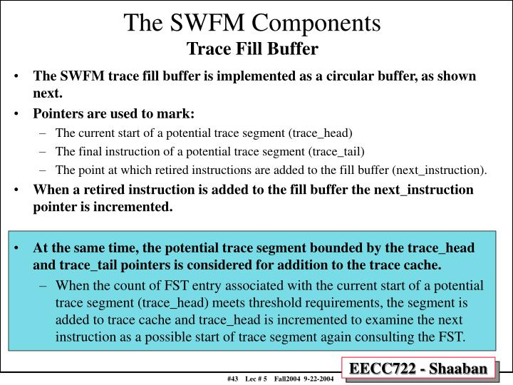 The SWFM Components