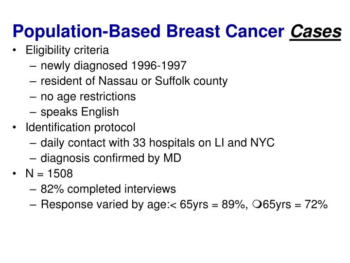 Population-Based Breast Cancer