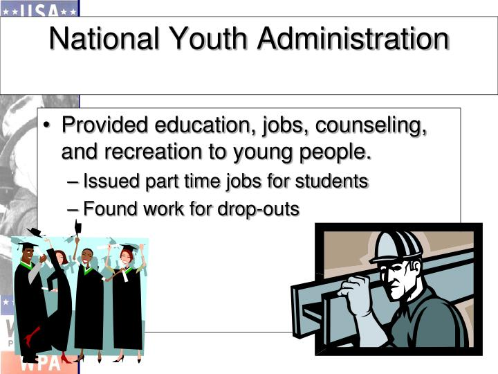 Provided education, jobs, counseling, and recreation to young people.