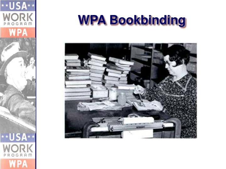 WPA Bookbinding