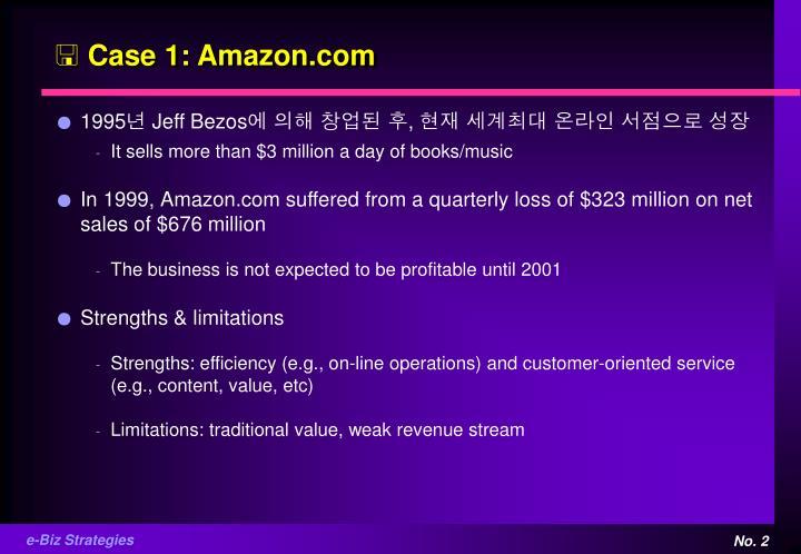 Case 1: Amazon.com