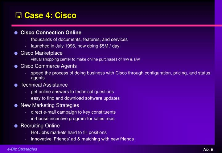 Case 4: Cisco