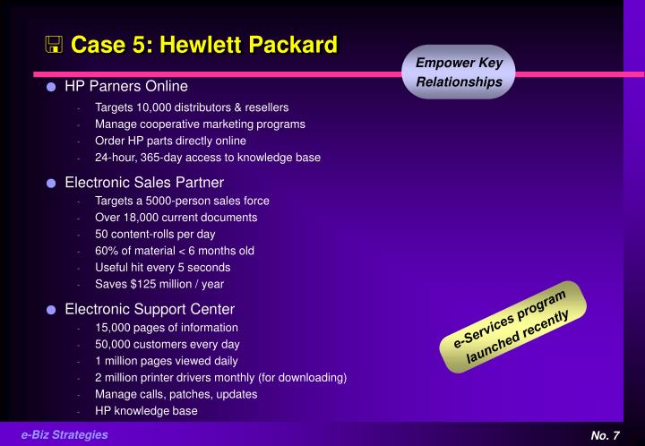 Case 5: Hewlett Packard