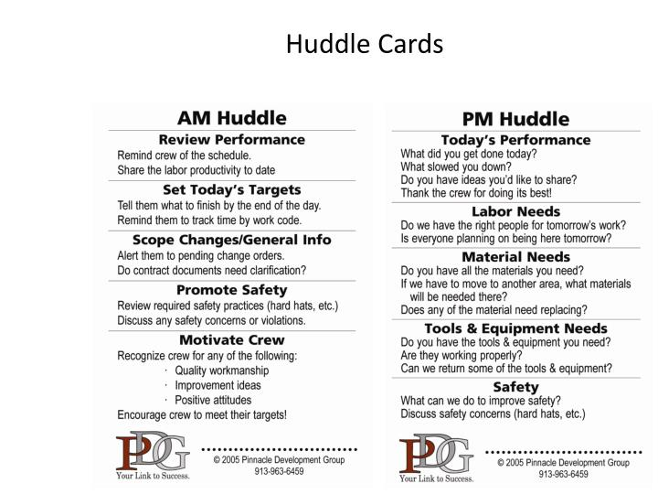 Huddle Cards