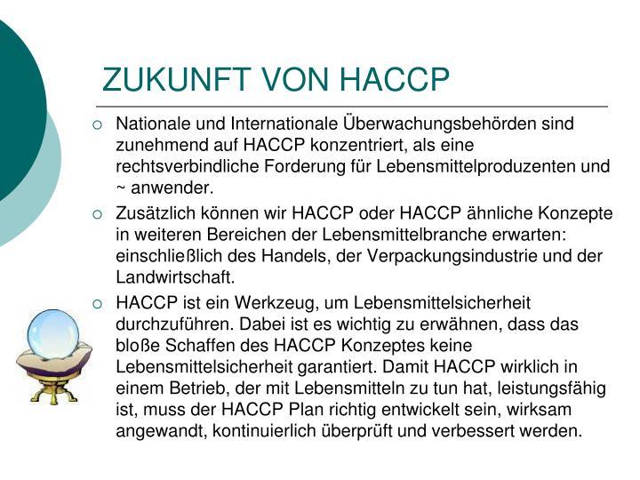 ZUKUNFT VON HACCP
