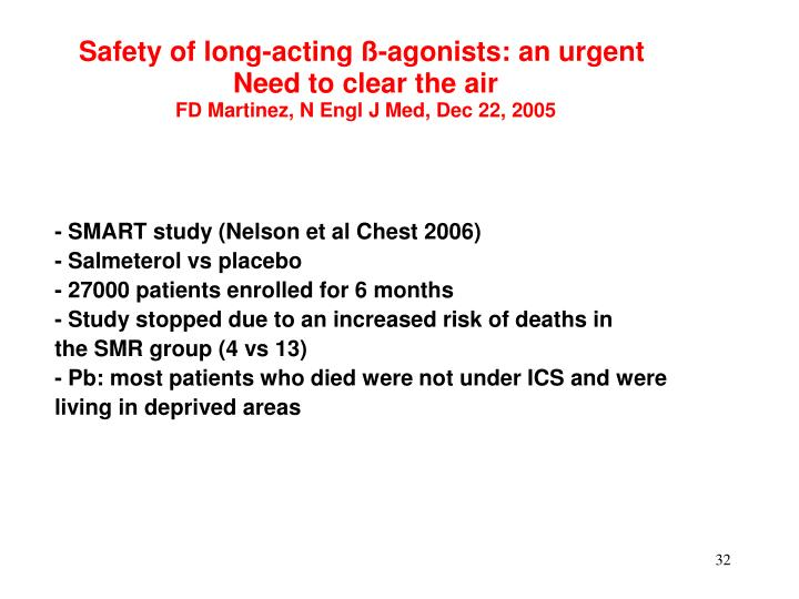 Safety of long-acting ß-agonists: an urgent
