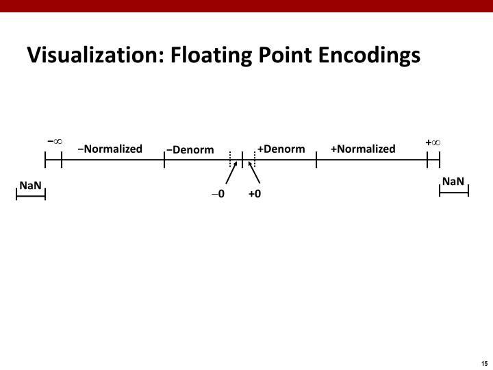 Visualization: Floating Point Encodings