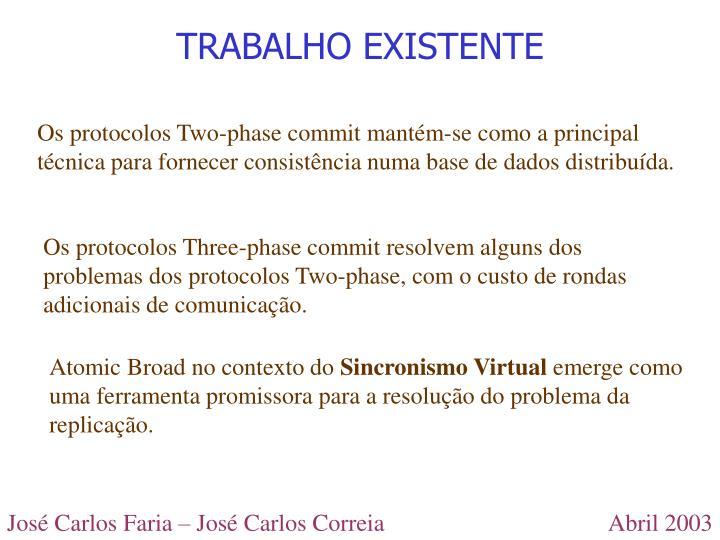 TRABALHO EXISTENTE