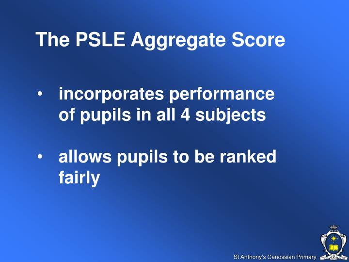 The PSLE Aggregate Score