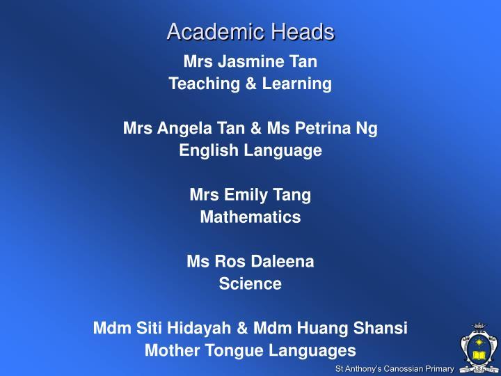 Academic Heads