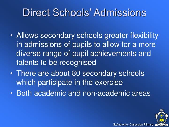 Direct Schools' Admissions