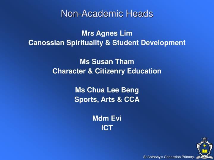 Non-Academic Heads