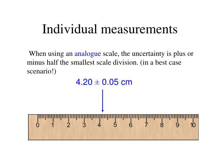 Individual measurements