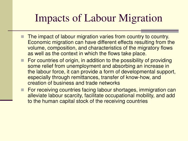 Impacts of Labour Migration