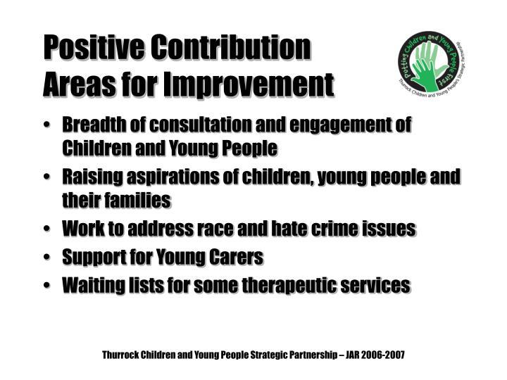 Positive Contribution