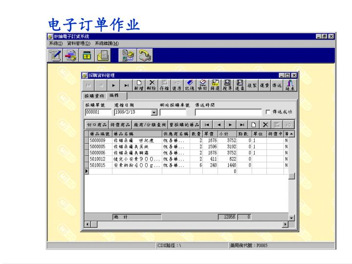 电子订单作业