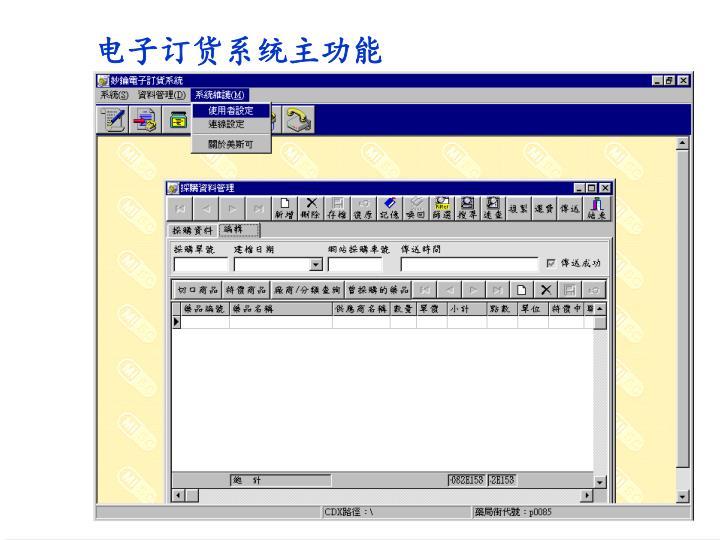 电子订货系统主功能