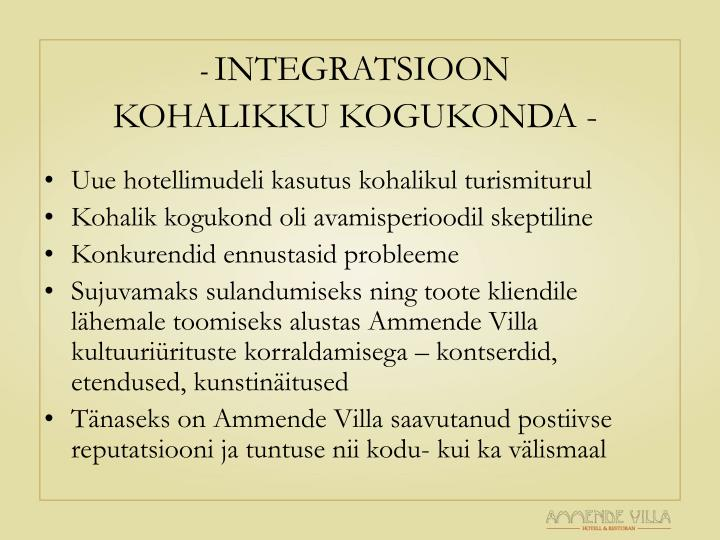 INTEGRATSIOON