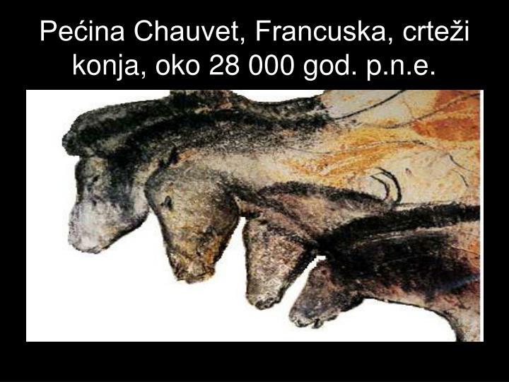 Pećina Chauvet, Francuska, crteži konja, oko 28 000 god. p.n.e.
