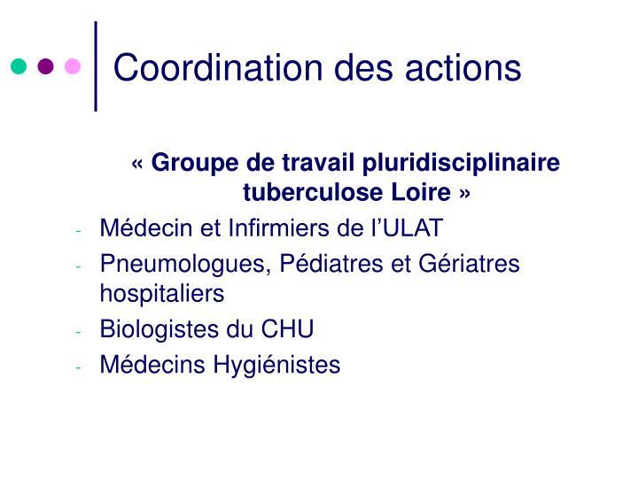 Coordination des actions