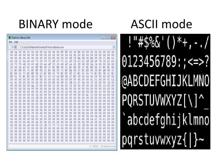 ASCII mode
