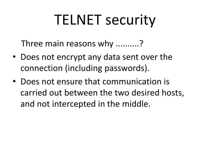 TELNET security