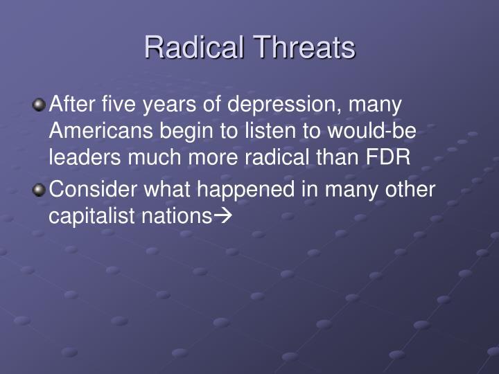 Radical Threats