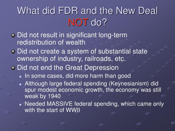 What did FDR and the New Deal