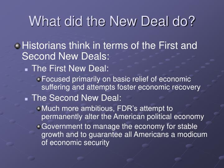 What did the New Deal do?