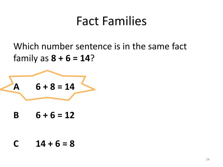 Fact Families