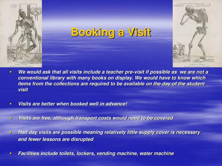 Booking a Visit
