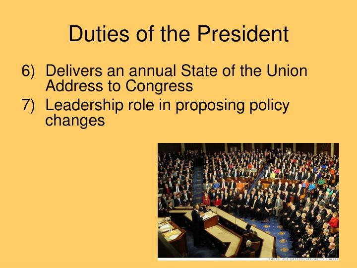 presidential duties
