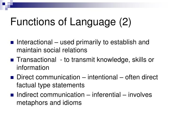 Functions of Language (2)