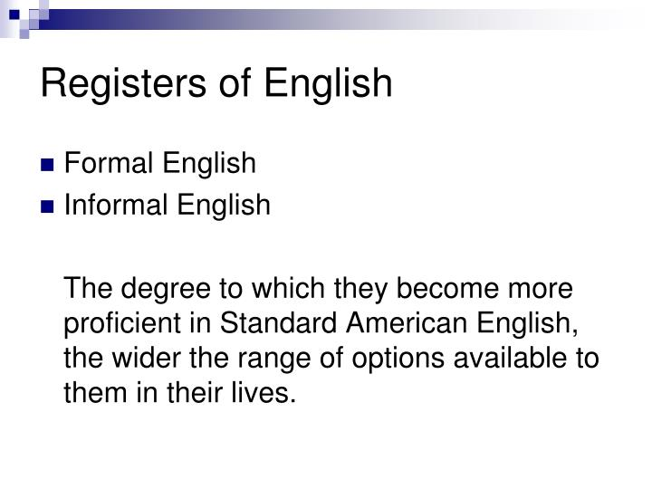 Registers of English