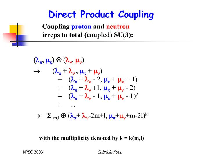 Direct Product Coupling